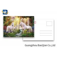China Full Color Animated Postcards , Two Sides Custom Lenticular Printing 0.6 MM PET wholesale