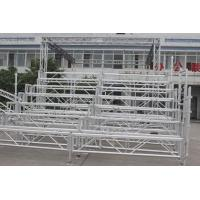 Easy Assembled Silver Portable Indoor Bleachers Aluminium Retractable Gym Bleachers