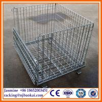 Wholesale Truck Tyre Storage Stillage Rack with wire mesh and removable posts from china suppliers