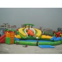 China Inflatable water park / inflatable dragon pool park  air tight pvc tarpaulin wholesale