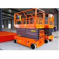 China Manganese Steel Construction Scissor Lift 10m Movable Self Propelled wholesale