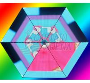 China Creative Nightclub Led Triangle Display Modules Flexible Led Screen wholesale