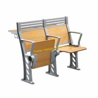 Buy cheap XJ-K38 High Back Armed Plywood Back and Seat Lecture Hall Chair with Aluminum from wholesalers