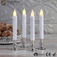 China TL-006 Battery Operated Taper Candles With Timer Golde Silver Color wholesale