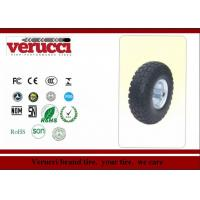 China 5.00 - 6 Pneumatic Rubber Wheel Colored Tr87 Straight Tread Pattern wholesale