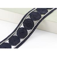 China Inlay Crystal Embroidered Lace Trims With Rhinestone Professional Custom Ribbon wholesale