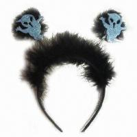 China Headband with Feather, Made of Plastic, Available in Various Colors and Types wholesale