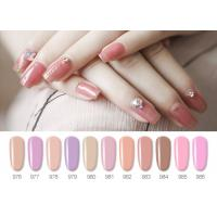 China Sweet Color Pink Lovely Jelly Gel Nail Polish With Uv Light 10ML 12ML 15ML wholesale
