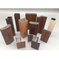 China Wood Grain Powder Coating Aluminium Extrusion Products 6063 6061 T4 T5 T6 on sale