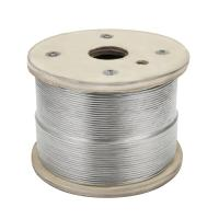 "China Cable Railing 1000ft Stainless Wire Rope , 1/8"" Stranded 1x19 airplane cable wholesale"