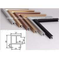 Buy cheap Different Size Aluminium Picture Frame Mouldings Sections Anodized Surface from wholesalers