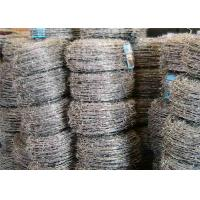 China Four Barbs Galvanized Iron High Tensile Barbed Wire Fence For Highway on sale