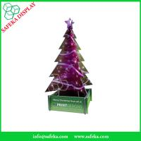 China Tree shape Point of sale Shelf stand corrugated display stand Recyclable paper Free Standing Display Unit for Christamas wholesale