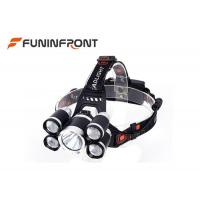 China 3000 LMs 5 LEDs Outdoor Cree Led Headlamp for Outdoor Emergency Camp Fishing wholesale