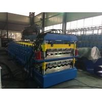 China Steel Step Tile Double Layer Roll Forming Machine 15 + 19 Stations 5.5kw wholesale