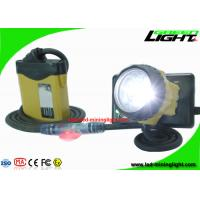 China Waterproof LED Miner Headlight with Security Warning Light , 25000 Lux Rechargeable Mining Safety Helmet Lamp wholesale