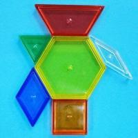China Transparent Pattern Blocks, Comes in 6 Assorted Shapes and Colors wholesale