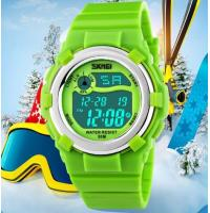 China New Multifunction Children's PU Strap Water Resistant 50M Sport Watch Chrono Alram Students Wrist Watch 1161 wholesale