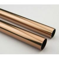 China Golden Round Anodized Aluminum Tube , Dark Bronze Anodized Aluminum Finished Tubing wholesale