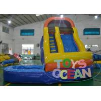 China Wave Sharp Inflatable Pool Water Slides For Adults / Fun Garden Water Slides  CE wholesale