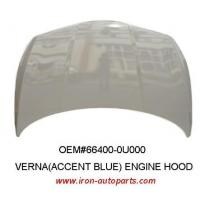 China Rubber Korean Auto Body Parts Automobile Engine Hood , OEM 66400-0U000 wholesale