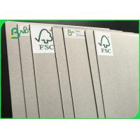 China Anti - Curl Grey Paper Board / Laminated Grey Board With FSC Reporting wholesale