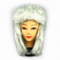 China Promotional faux fur hat, available in various colors on sale