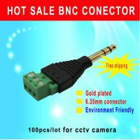 China AUDIO stereo plug 6.35mm connector to 3pin connector AUDIO plug for CCTV camera cctv accessory wholesale