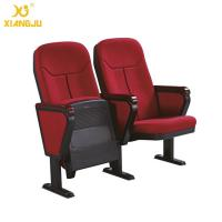 China Cold molded foam 560mm Fabric Folding Auditorium Chairs with Writing Table / PP Sheel Pan wholesale