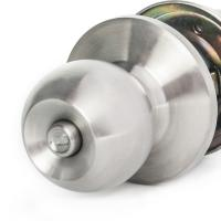 Quality Chrome Stainless Steel Cylinder Door Knobs Cylindrical Lock Privacy Knob Lock for sale