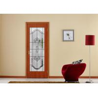 China Arctic Patterned Window Door Suit Decorative Frosted Glass Brass / Nickel / Patina Available on sale