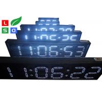 China Outdoor LED Scrolling Sign White / Red LED Countdown Digital Sign Board With RF Remote Control wholesale