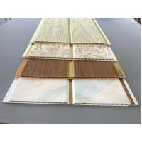 China 10 Inch Latin America Ceiling Decorative PVC Panels With Golden Lines wholesale