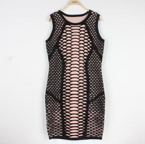 China Customzied Ladies Wool Sweater Dresses Sleeveless Tight Dress wholesale