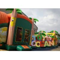 China Animal Toddler Inflatable Obstacle Course Security Durable 25M Jungle wholesale