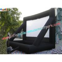 China Commercial Portable 0.55mm PVC Tarpaulin Inflatable Projection Screen For Outdoor wholesale