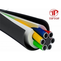 China 316L PVC Covered Stainless Steel Seamless Multi Core Tubing on sale