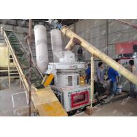 China Double Roller Vertical Ring Die Biomass Pellet Production Line , Wood Pellet Maker Machine on sale
