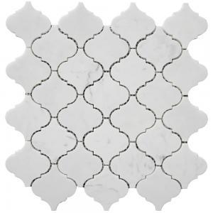 Carrara white lantern shape mosaic tile 12x12