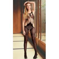China Sexy Bodystockings Wholesale Flowers and Strings Crotchless Bodystocking One Size Fits Most on sale