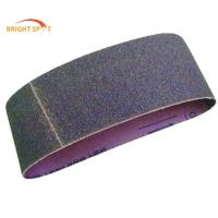China Red Black Diamond Grit Sanding Belts With Aluminum Oxide / Silicon Carbide Grain wholesale