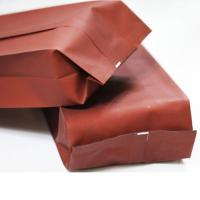 China Red logo printed Ground coffee bean aluminium foil packaging bags with valve wholesale