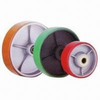 China Polyurethane Wheels with Cast Iron Center, Customized Colors are Accepted wholesale