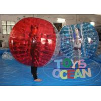 China 1.0mm PVC Inflatable Bumper Ball Soccer Bubble For Football Game 1 Year Warranty wholesale