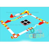 China Fashional Floating Inflatable Water Park 6m Inflatable Water Trampoline Obstacle Run wholesale
