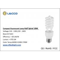 China CFL Compact Fluorescent Lamps / Lightbulbs T3 18W 8000H Long Life Time wholesale