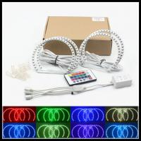 China SMD RGB LED angel eyes halo rings kits for BMW E46 NON- projector 131mm 146mm Car LED DRL angel eyes kit wholesale