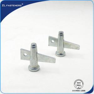 China Formwork Locking Wedge Scaffolding Pin White Zinc / Yellow Zinc Finish wholesale