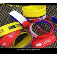 China cheap promotional silicone wristband with embossed colourful logo wholesale