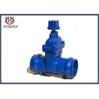 China PVC Pipe Socketed Resilient Seated Gate Valve Blue Color For Sewage Treatment wholesale